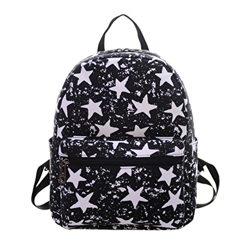 Women Leather Hiking Backpacks Desigual Bag Black - 5