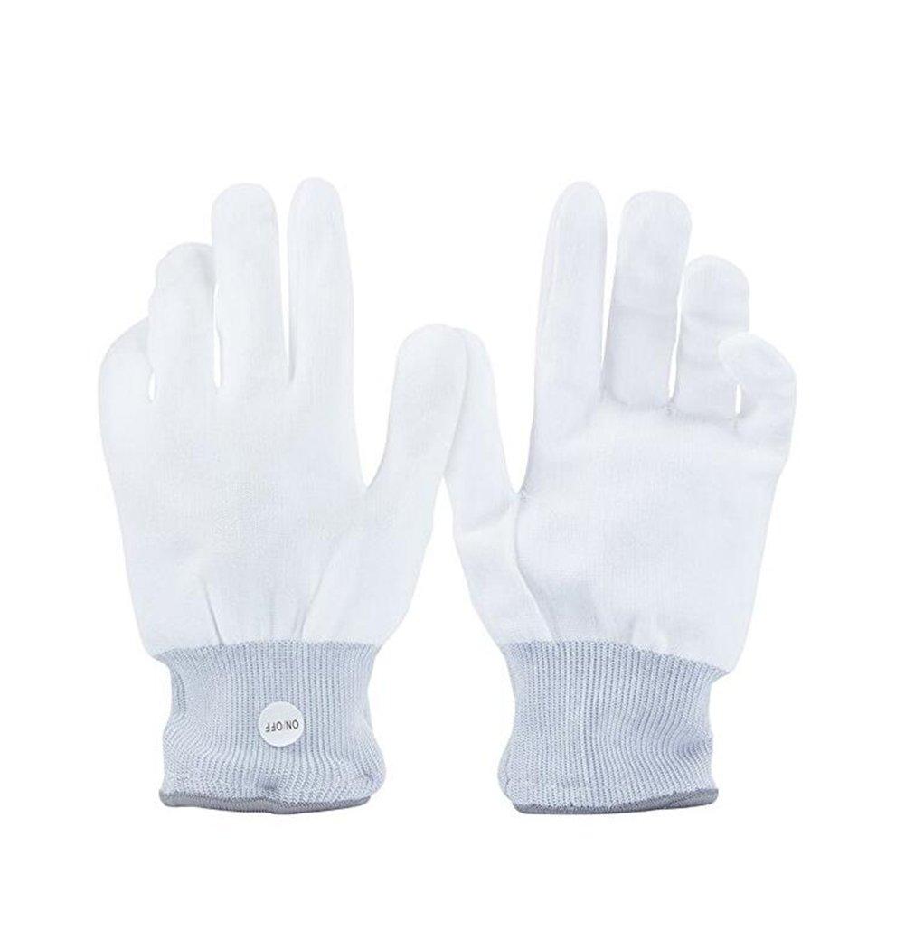 ANGTUO 1 par de brillantes guantes luces LED etapa guante de la propiedad de clubes, fiestas, fiesta, baile, montar a caballo: Amazon.es: Juguetes y juegos