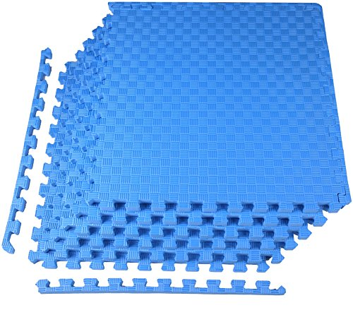 "BalanceFrom 1"" Extra Thick Puzzle Exercise Mat with EVA Foam"