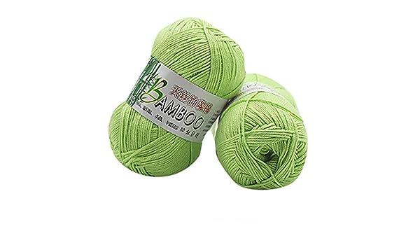 Hiroo - 100% algodón de bambú cálido, Suave Natural, Ganchillo de ...