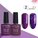 #8: LED UV Gel Nail Polish Set of 2 Color Gel 0.27 FL OZ Purple