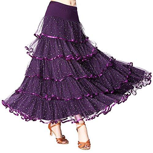 Lolanta - Jupe - Trapze - Femme Taille Unique Violet