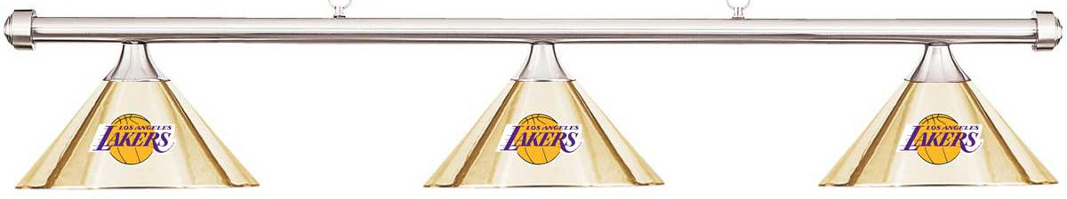Imperial NBA LA Los Angeles Lakers Brass Metal Shade/Chrome Bar Billiard Pool Table Light by Imperial