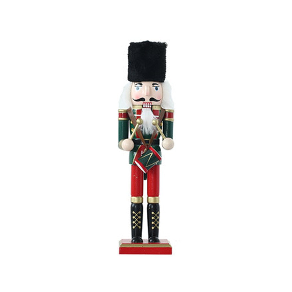 O-Toys Wooden Nutcracker Ornaments Christmas Decoration Figures Puppet Toys Christmas Gifts Home Decor (12 Inch, drum)