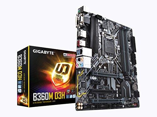 GIGABYTE B360M D3H (LGA1151/Intel/B360/Micro ATX/USB 3.1 Gen 2 (USB3.1) Type A/DDR4/Motherboard) ()