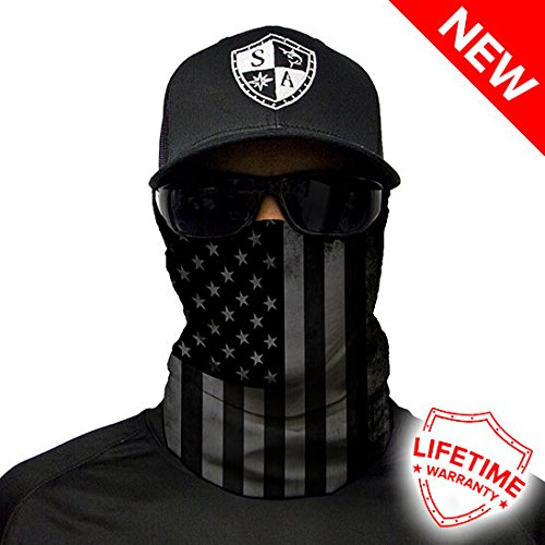 For The Face Buff (SA CO Official BLACKOUT AMERICAN FLAG Face Shield, Perfect for All Outdoor Activities, Protects Face Against the Elements)