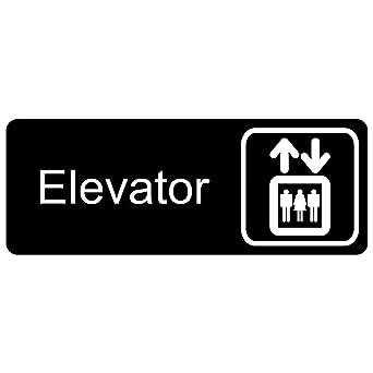 Amazon.com: ComplianceSigns - Señal de elevador de acrílico ...