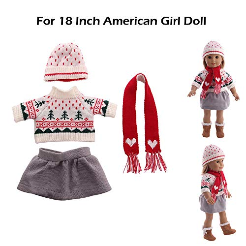 Sannysis Gifts for Men , Chirstmas Clothes Dress Hat for 18 Inch American Girl Doll Accessory Girl Toy