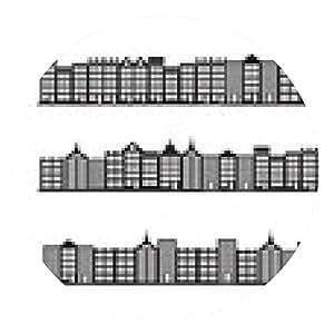 alfombrilla de ratón ciudades negro conjunto de iconos de la silueta - ronda - 20cm