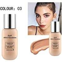 Youth Velvet Foundation - Funda profesional mate, Base Natural, Concealer Cover Cream, Flawless Colour Changing Foundation Makeup, Foundation liquid Base Nude Face Moisturizing Makeup Base (03)