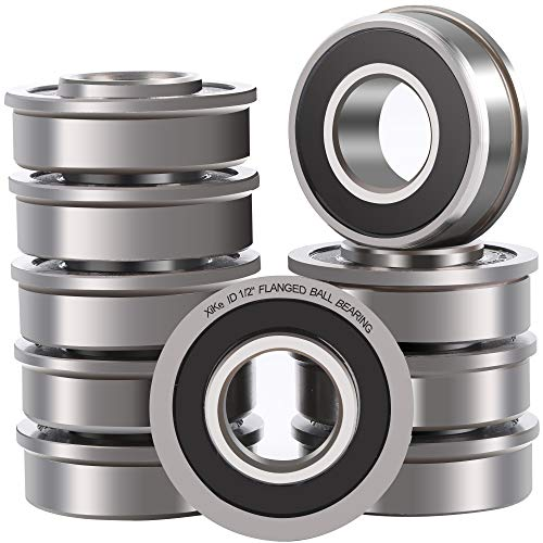 XiKe 10 Pack Flanged Ball Bearings 1/2