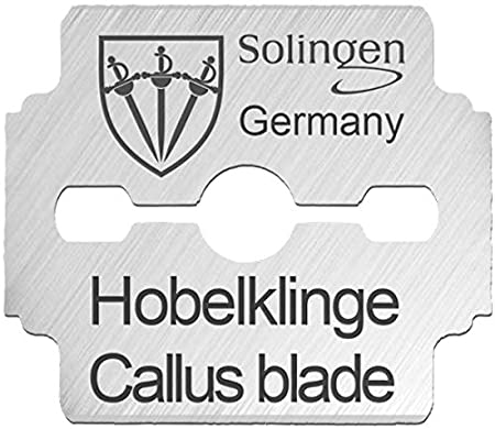 3 Swords | Exclusive foot care set |corn plane / callus and hard skin remover with spare blades | Made in Solingen / Germany since 1927 (003133)