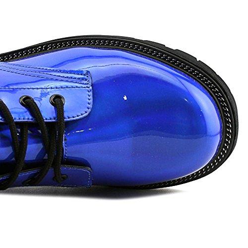 Round Luna Blue Toe Black Flurt Synthetic Blue Gotta Women Combat Boot xRt6qA5