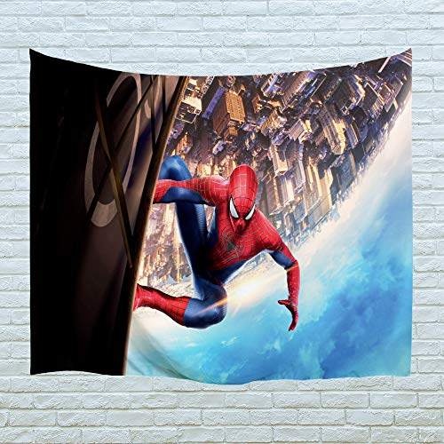 (PROCIDA Home Tapestry Wall Hanging Nature Art Polyester Fabric Spiderman Theme, Wall Decor for Dorm Room, Bedroom, Living Room, Nail Included - 80