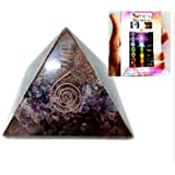 Top Quality Exquisite A++ Amethyst Orgone Pyramid Free Booklet Jet International Crystal Therapy, Rainbow