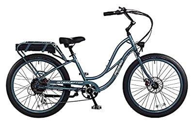 "Pedego Interceptor 26"" Step Thru Mineral Blue with Black Balloon Package 48V 15Ah"