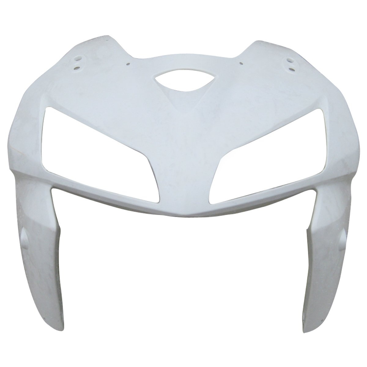 ZXMOTO Motorcycle Front Upper Cowl Nose and Upper Fairing Splash Guard Fairing cowl kit for Honda CBR 600 RR 2005 2006 Unpainted, ABS Injection