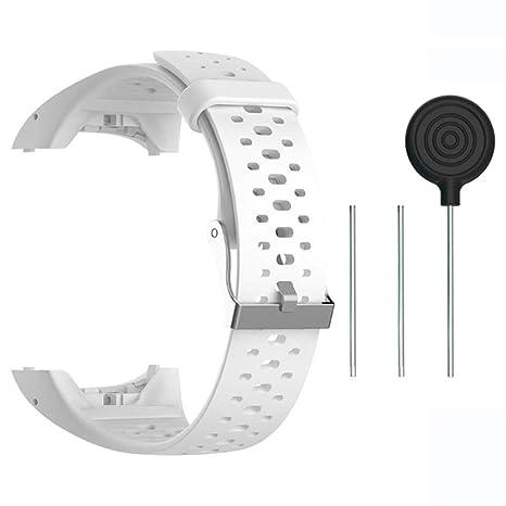 Accesorio Reemplazo de Liberación Rápida Banda de Reloj de Silicona Suave Pulsera de Correa Deportiva para Polar M400 / M430 GPS Reloj smartwatch ...