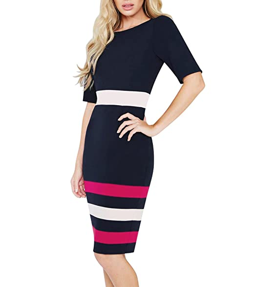Mmondschein Women Fashion Sleeveless Elegant Casual Party Pencil Work Dress