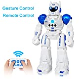 MIBOTE Remote Control Robot Toys for Kids, 2018 Newest Version Smart Gesture Control & RC Remote Control Rechargeable Programmable Robot for Boys Girls Toddler, Walking, Singing, Dancing