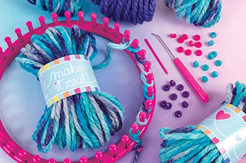 Make It Real - Knitting: Beanie Bun & Gloves. DIY Arts and Crafts Kit Guides Kids to Crochet a Beanie and Fingerless Gloves with Acrylic Yarn by Make It Real (Image #2)