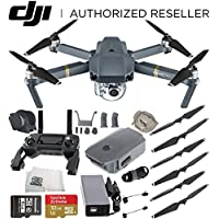 DJI Mavic Pro Quadcopter Drone with Manufacturer Accessories + Sandisk 32GB microSDHC Memory Card + Microfiber Cleaning Cloth