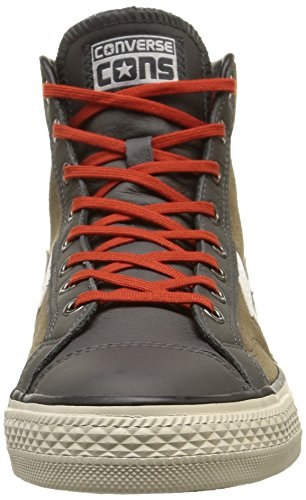Converse Herren, Star Player Hi Suede/Leather, Braun (Fossil/Storm Wind/Burnt pumpki) braun (Fossil/Storm Wind/Burnt Pumpki)