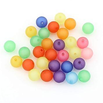 Plastikperlen 30 Stück Plastik Kugel 10 mm hellgrün opak Kunststoffperlen