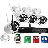 AKASO WS13M-401 4CH 960P HD WIFI Security Camera System Wireless Video Surveillance Network NVR Kits CCTV IP Camera...
