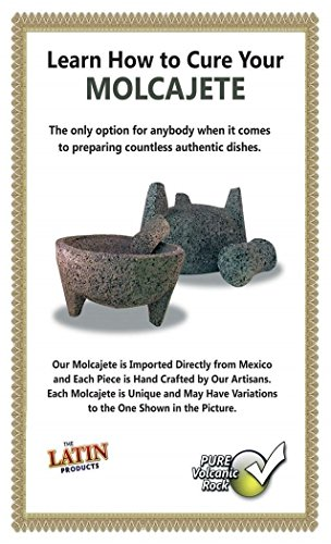 """TLP Molcajete authentic Handmade Mexican Mortar and Pestle 8.5"""" 5 It is a handmade product, made from lava rock. The product by nature will be porous. We have listed a preparation guide on the listed item. Those steps wil"""