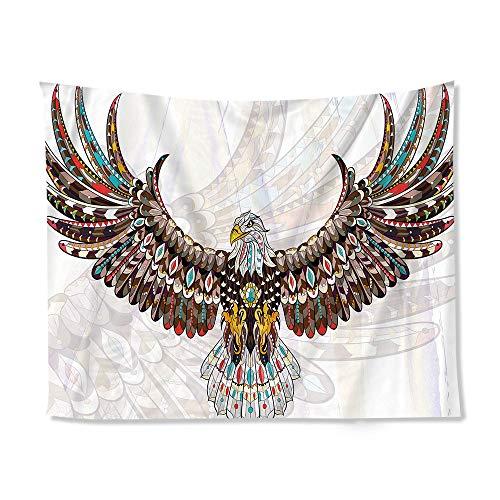 (Moylor Colored Eagle Wing-Spreading Patter Tapestry Wall Art for Bedroom Living Room Wall Hanging Decor (60