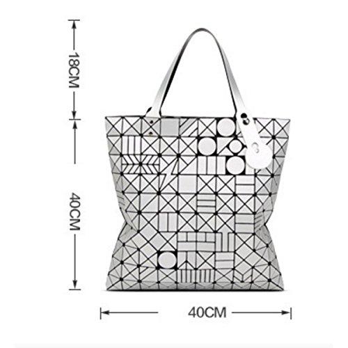A Donna Borsa Da Geometrica Femminile Silver Opaca Moda Tracolla 4Lj35RA