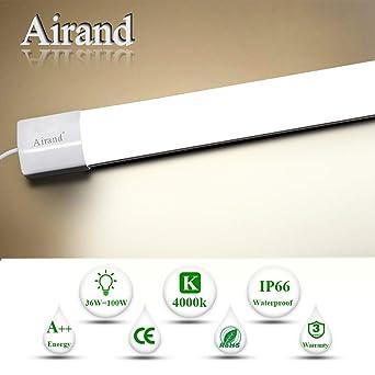 LED Feuchtraumleuchte 36W Airand LED Deckenleuchte Bad 4000K ...