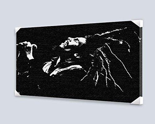 Bob Marley (Black & White) Stretched Canvas 36x24