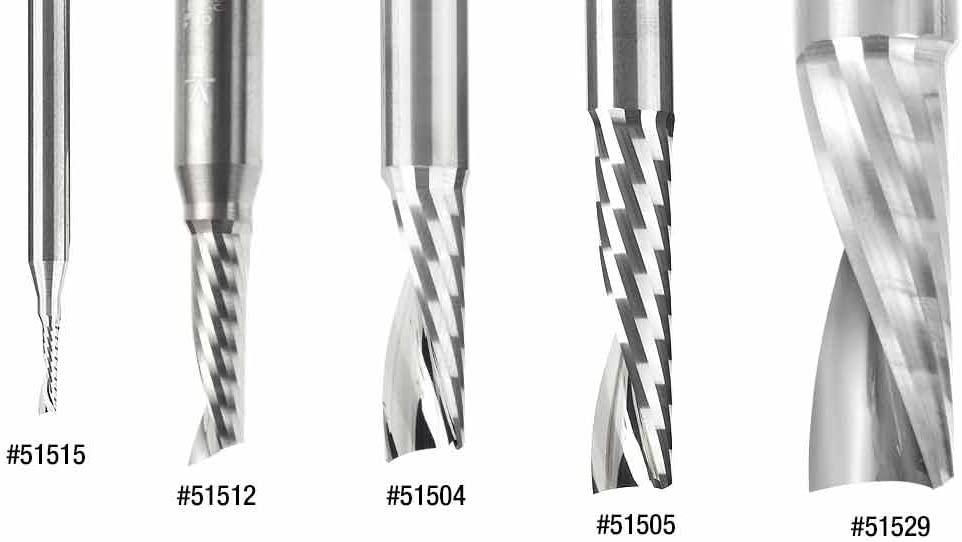 Plastic Cutting 3//8 Dia x 3 Amana Tool 51509 Solid Carbide CNC Spiral O Single Flute