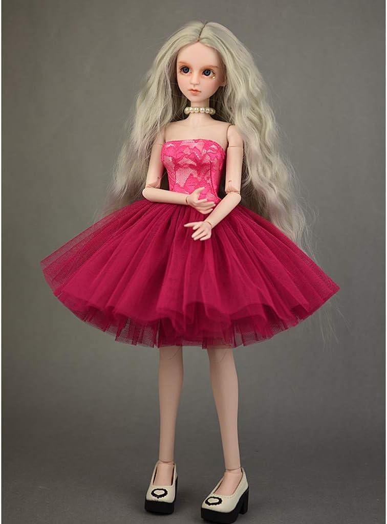 Rosa+Schwarz Fenteer 2 St/ücke Mode Puppe Kleidung Hochzeitskleid Partykleid F/ür 1//4 Bjd M/ädchen Puppen Zubeh/ör