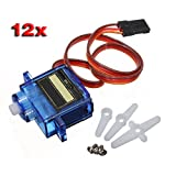 SODIAL(R) 12 Pcs New SG-90 SG90 9g Micro Servos For Car Helicopter Plane Boat