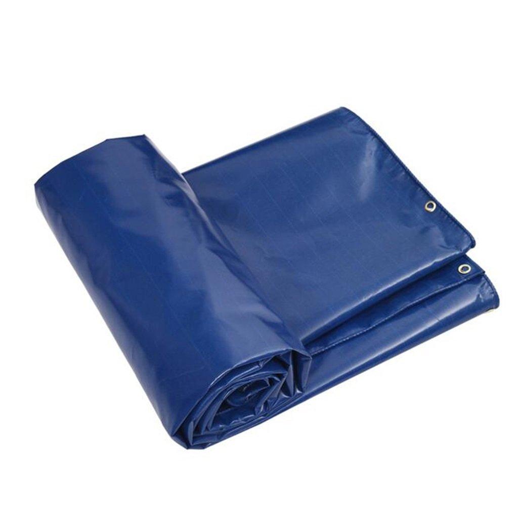YX-Planen Mehrzweck Plane Plane wasserdicht schwere Boden Zelt Anhänger Abdeckung Plane Blatt mit Ösen und verstärkte Kanten blau Schutzplane (größe   4x4m)
