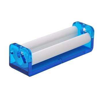 78MM Paper Plastic Rolling Machine Transparent Tobacco Roller Cigarette Hand Accessory Blue