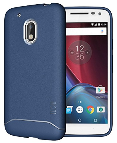 Moto G4 Play Case, TUDIA Full-Matte Lightweight [ARCH] TPU Bumper Shock Absorption Case for Motorola Moto G4 Play (Blue)