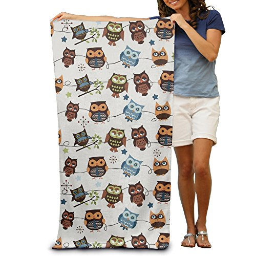 Uikea Owl Microfiber Bath Towel / Beach Towel For Adults (Towels Owl Bath)