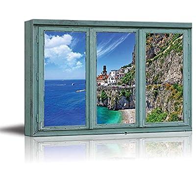 Cliffside Houses Overlooking a Beautiful Ocean View Seaside...