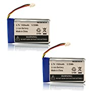 1500mAh Replacement Battery for Infant Optics DXR-8 Video Baby Monitors (2 Pack)