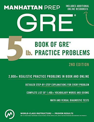Higher Practice Book - 5 lb. Book of GRE Practice Problems (Manhattan Prep 5 lb Series)