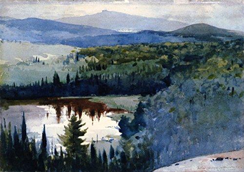 Indian Village, Adirondacks - By Winslow Homer - Canvas Prints 32