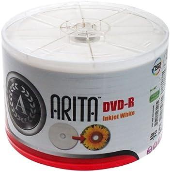 Arita RitekG05 DVD-R 4.7 GB / 120 min 8x, Full printable, 50 piezas en ECO- pack: Amazon.es: Electrónica