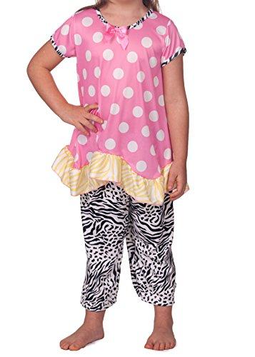 Laura Dare Little Girls Sunset Jungle Capri Pajama, Size 6