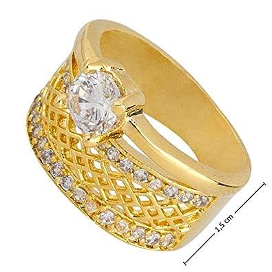Breiter goldring mit stein  Bijou Karat Breiter Goldring 18 Karat vergoldet Verlobungsring ...