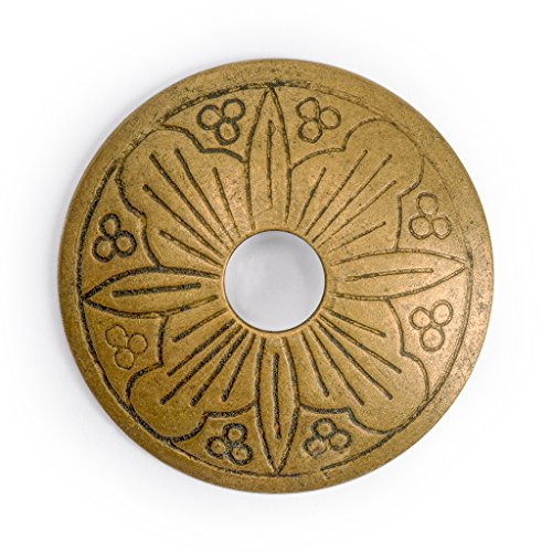 - CBH Floral Brass Hardware Backplate Washers 1-3/8