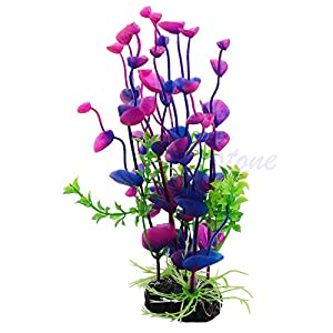 SimpleLife Purple Artificial Water Plant Grass Decor Ornament for Fish Tank Aquarium 50